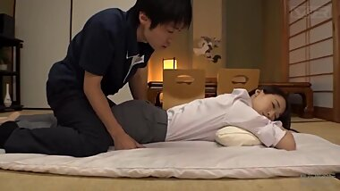 Big ass Japanese Mother-in-law makes son got seduced by her