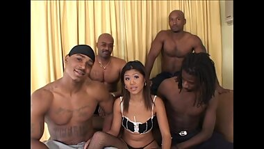 Black Attack Gangbang - Asia - Cambodian WIfe 4 Black Cocks