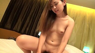 ASian rides for creampie