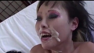 Huge Cum Load For Asian Whore